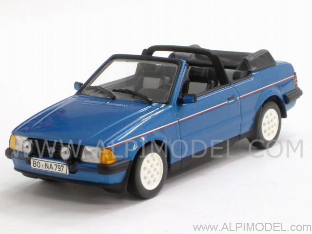 Ford Escort MkIII Cabriolet 1983 (Gemini Blue Metallic) by minichamps