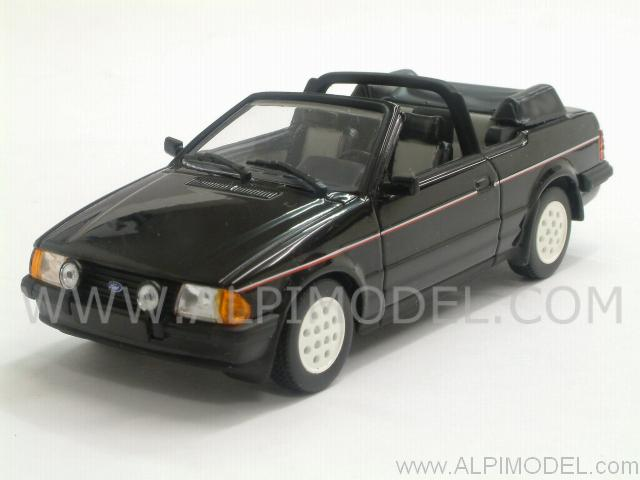Ford Escort III Cabriolet 1983 (Black) by minichamps