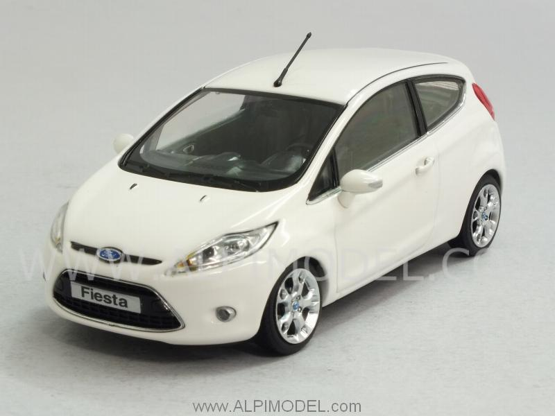 minichamps ford fiesta 2008 frost white 1 43 scale model. Black Bedroom Furniture Sets. Home Design Ideas