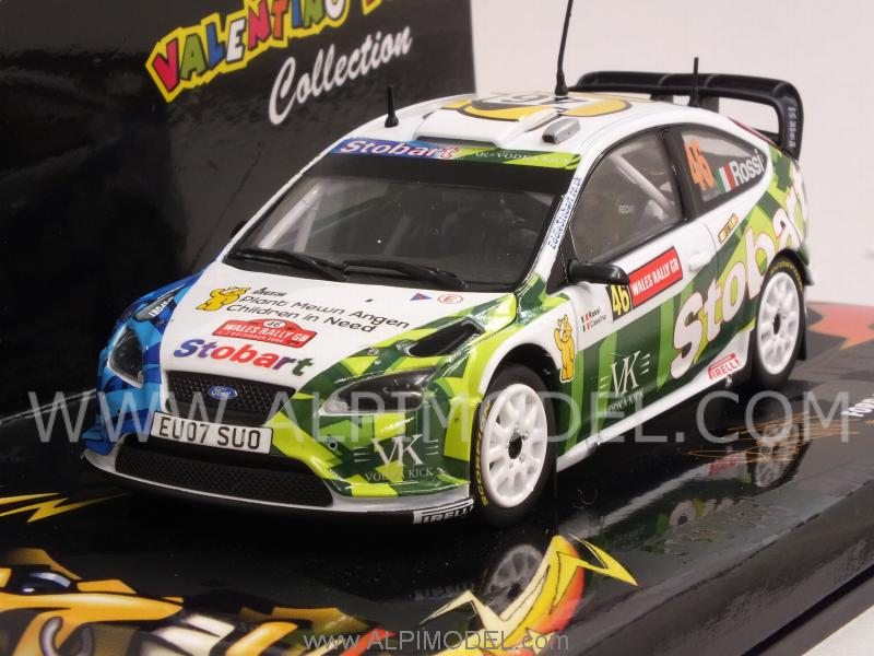 VALENTINO ROSSI 1//43 MINICHAMPS FORD FOCUS WRC STOBART 2008 RALLY WALES