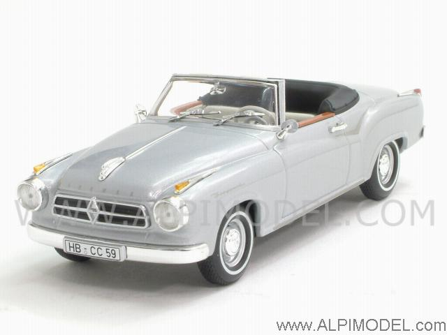 Borgward Isabella Coupe Cabriolet 1959 (Alu Silver) by minichamps