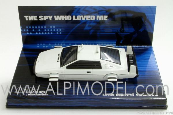 Lotus Esprit Submarine 007 James Bond 'The Spy Who Loved Me' by minichamps