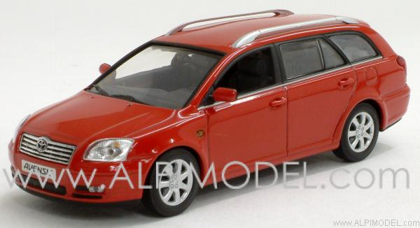Toyota Avensis Station Wagon 2002 (Solar Red) by minichamps