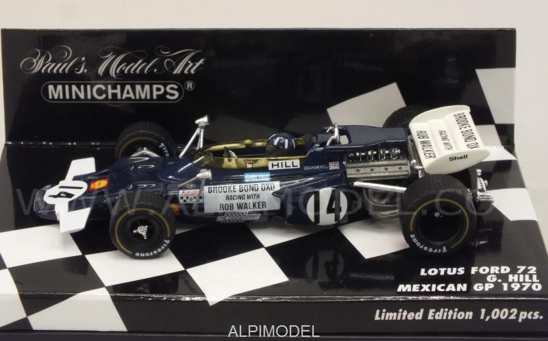 Lotus 72 Ford #14 GP Mexico 1970 Graham Hill - minichamps