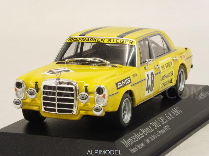 Mercedes 300 SEL 6.8 AMG Test Drive Le Mans 1972 Hans Heyer by minichamps