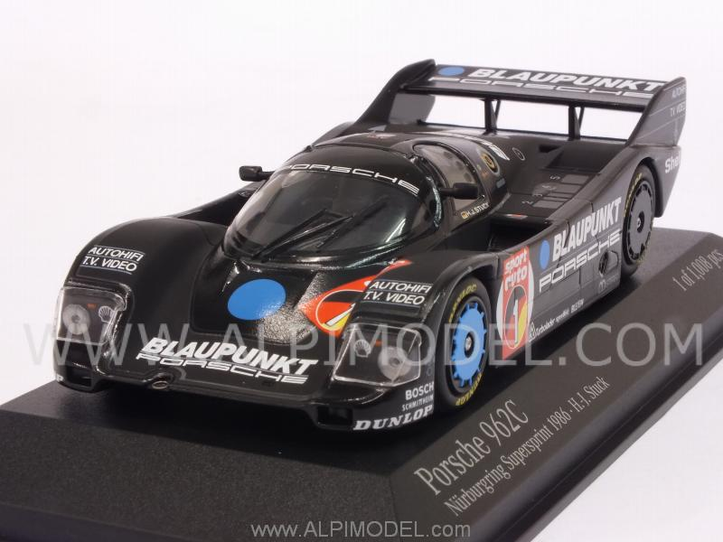 Porsche 962C Blaupunkt #1 Nurburgring Supersprint 1986 Hans Joachim Stuck by minichamps