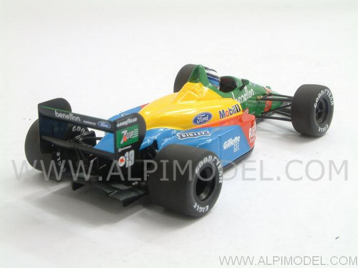 Benetton B188 Ford  GP Silverstone 1990 First F1 Test Mika Hakkinen - minichamps