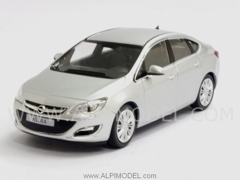 Opel Astra 4-doors 2012 Silver by minichamps