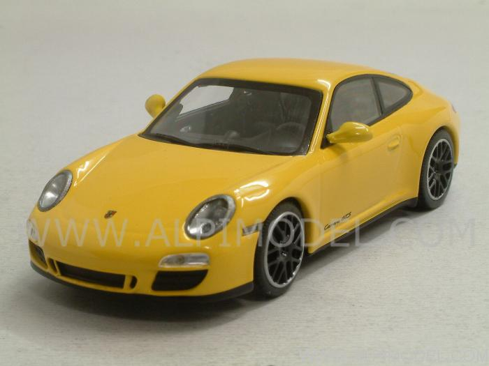 1:43 Minichamps Porsche 911 Carrera GTS Coupe 2011 yellow 997 II