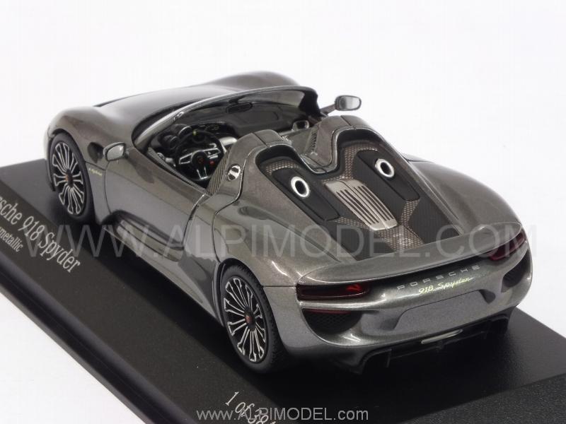 minichamps porsche 918 spyder final 2013 meteor grey metallic 1 43 scale model. Black Bedroom Furniture Sets. Home Design Ideas