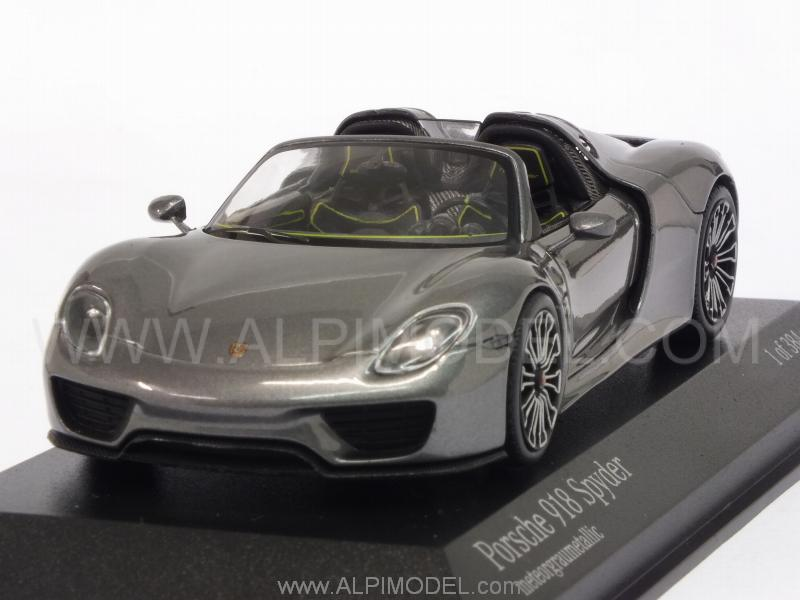 Porsche 918 Spyder Final 2013 (Meteor Grey Metallic) by minichamps