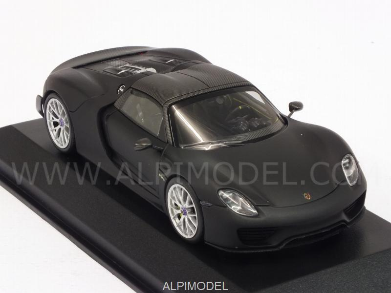 Porsche 918 Spyder Weissach Package 2015 (Matt Black) - minichamps