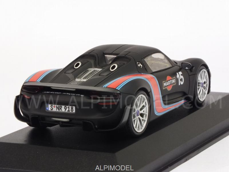 Porsche 918 Spyder Weissach Package - Martini 2013 Lap Record Nurburgring - minichamps