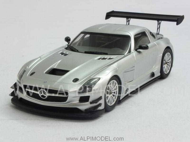Mercedes SLS AMG GT3 2011 Street (Silver) by minichamps