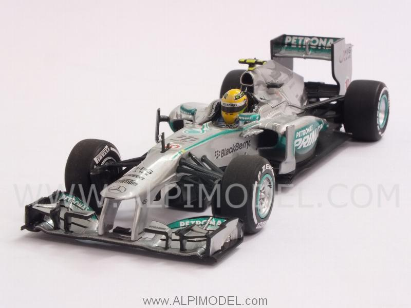 Mercedes AMG  F1 W04 GP Malaysia 2013 - Lewis Hamilton 1st Podium with Mercedes by minichamps