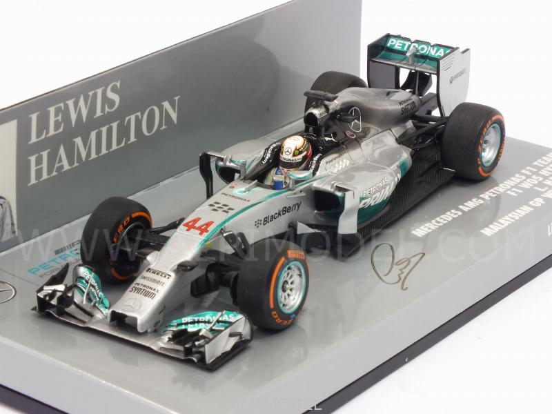 Minichamps Mercedes W05 Winner Malaysian GP 2014 Lewis Hamilton Champion 1//43