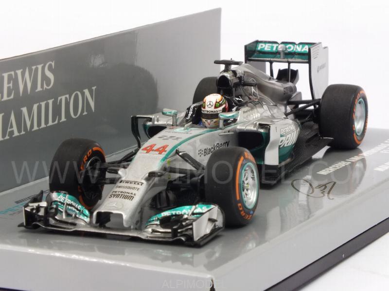 Lewis Hamilton Champion 1//43 Minichamps Mercedes W05 Winner Malaysian GP 2014