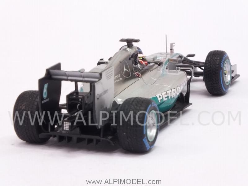 Mercedes W05 AMG F1 Hybrid Winner GP Japan 2014 World Champion Lewis Hamilton (rain tyres) - minichamps