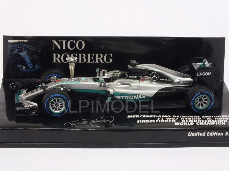 Mercedes AMG W07 Hybrid Demonstration Run Singdelfingen World Champion 2016 Nico Rosberg - minichamps