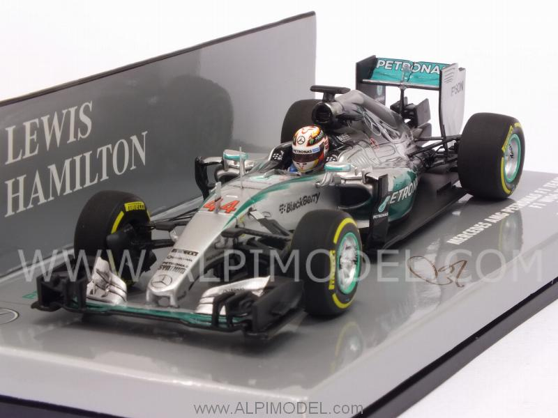 Mercedes AMG F1 W06 Hybrid GP Monaco 2015 World Champion Lewis Hamilton (HQ Resin) by minichamps
