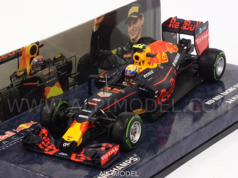 Red Bull RB12 #33 GP Brasil 2016 3rd Place Max Verstappen (HQ resin) - minichamps