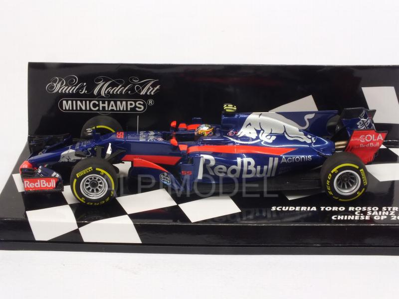 Toro Rosso STR12 #55 GP China 2017 Carlos Sainz Jr.  (HQ resin) - minichamps
