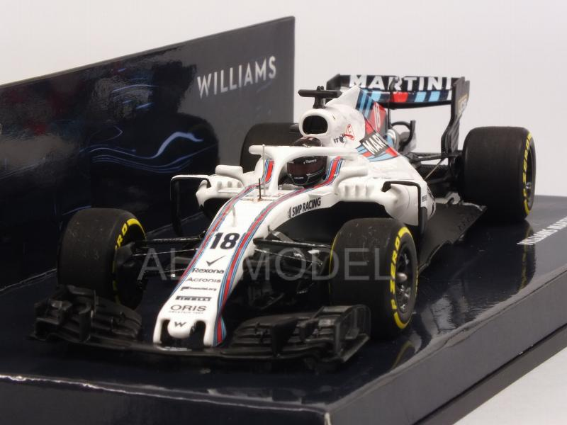 Williams Martini Racing Showcar 2018 Lance Stroll (HQ Resin) by minichamps