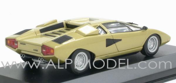 Minichamps 430103100 Lamborghini Countach Lp 400 1974 Gold 1 43