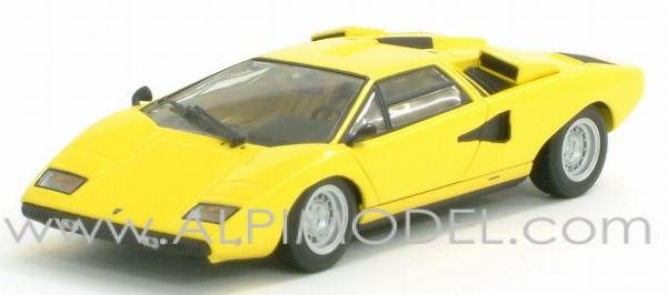 minichamps lamborghini countach lp400 1974 croma yellow 1 43 scale model. Black Bedroom Furniture Sets. Home Design Ideas