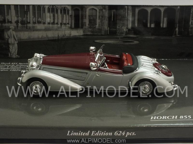 Horch 855 Special Roadster 1938 Silver/Red - minichamps
