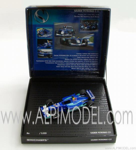 Sauber C21 Petronas  Gift Box with engine sound - minichamps