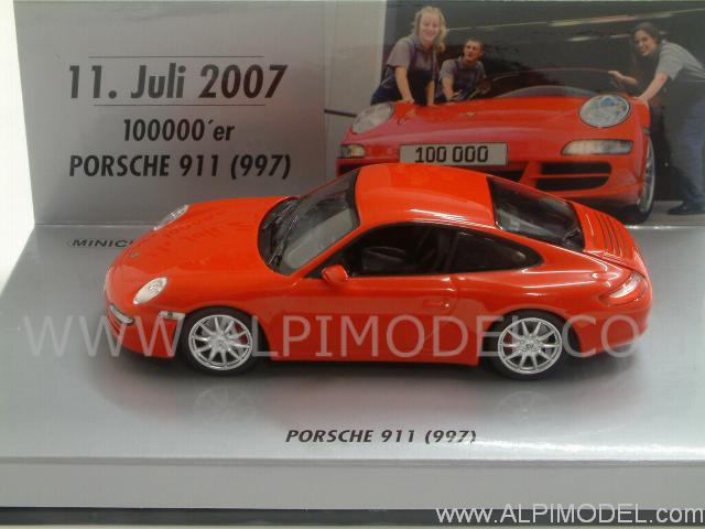 Porsche 911 Carrera S Type 997 No.100.000 (Red) by minichamps