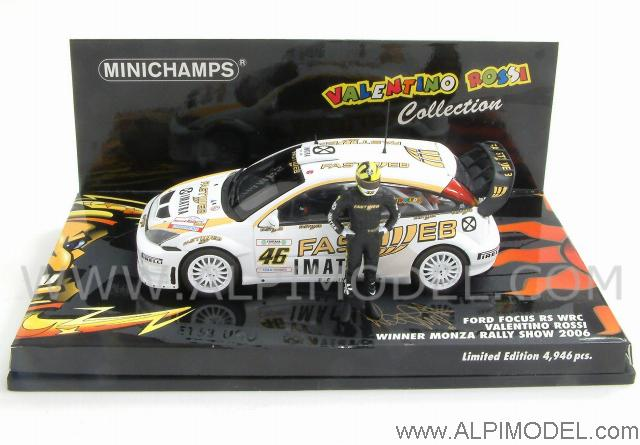 Ford Focus RS WRC Winner Rally Monza Show 2006 Valentino Rossi by minichamps