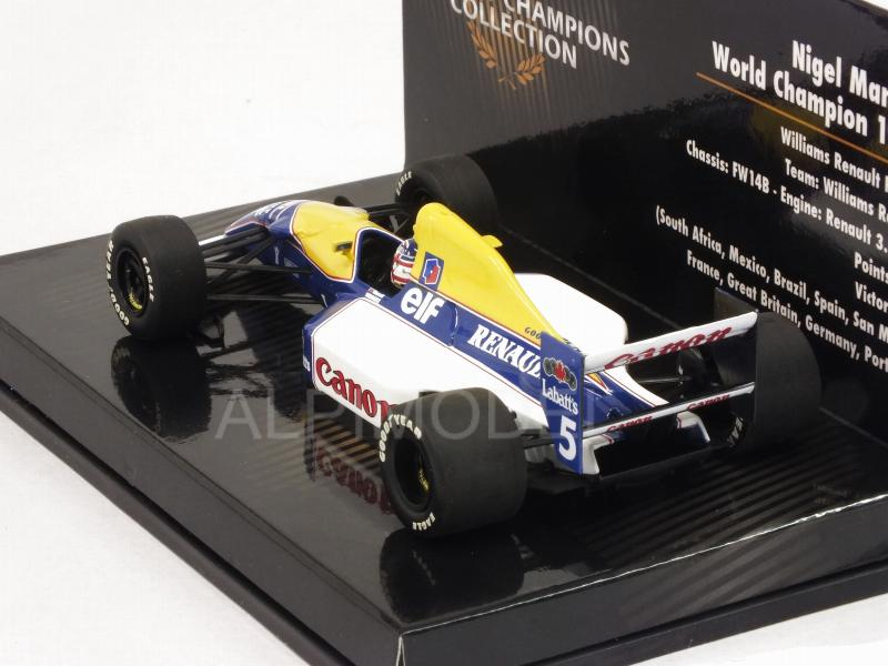 Williams FW14B Renault #5 1992 Nigel Mansell  - World Champion Collection - minichamps