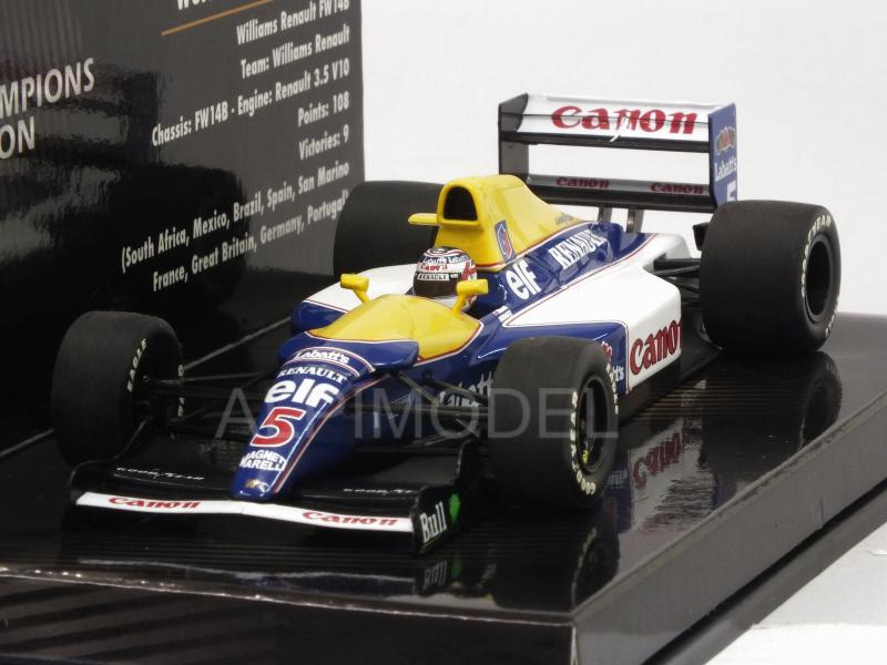 Williams FW14B Renault #5 1992 Nigel Mansell  - World Champion Collection by minichamps