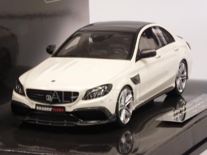 Brabus 600 (Mercedes AMG C63 S) 2015 (White) by minichamps