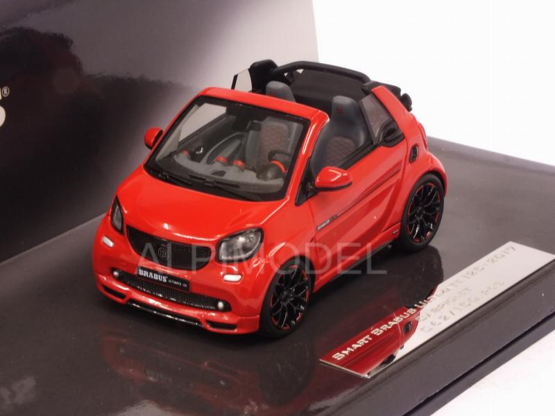 Smart Brabus Ultimate 125 Cabriolet 2017 (Red) - minichamps