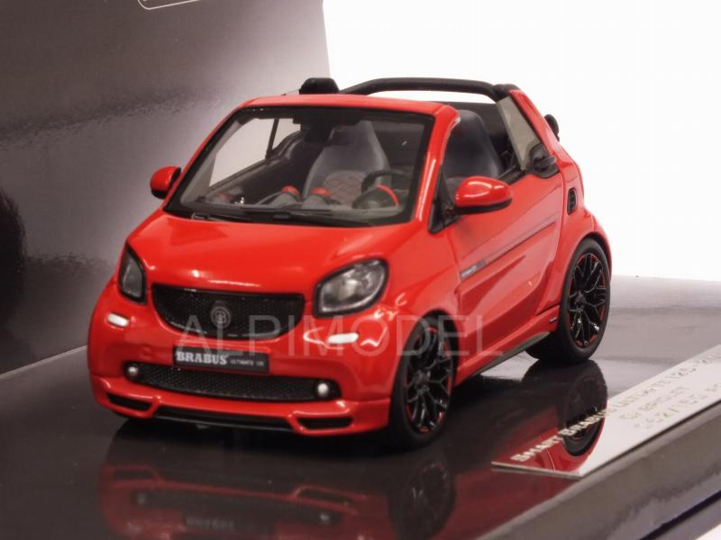 Smart Brabus Ultimate 125 Cabriolet 2017 (Red) by minichamps