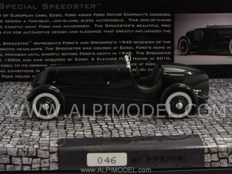 Ford Edsel Roadster 1934  Pearl Essence Gun Metallic - minichamps