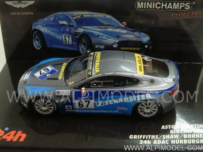 Aston Martin Vantage V8 N24 #67  Nurburgring 2010 Griffiths - Shauw - Borness - Rubis by minichamps