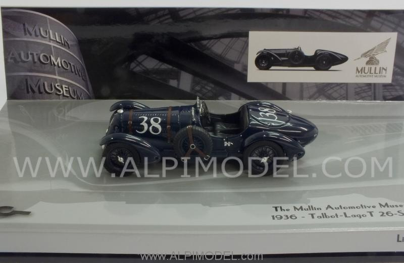 Talbot Lago T 26-SS Grand Prix 1936 Mullin Museum collection by minichamps