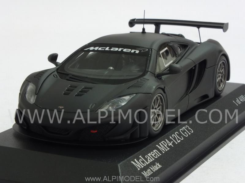 McLaren MP4/12C GT3 Street 2012 (Matt Black) by minichamps