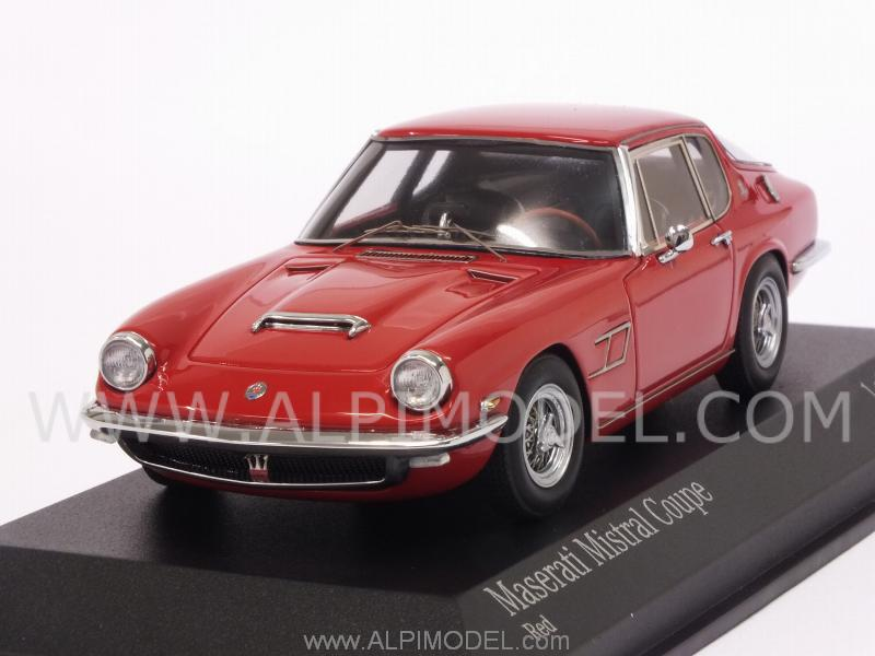 Maserati Mistral Coupe 1963 (Red) by minichamps