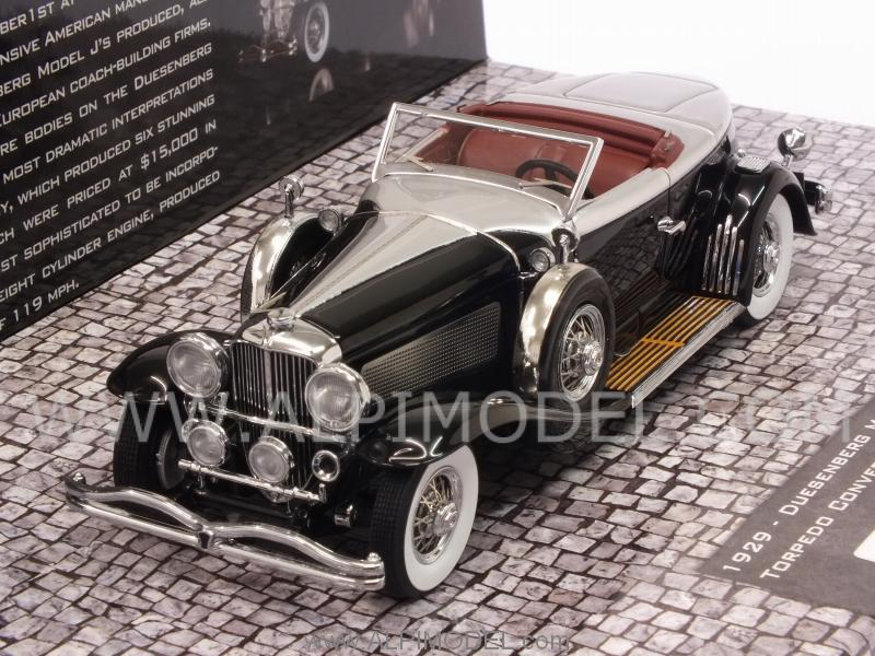 Duesenberg Model J Torpedo Convertible Coupe 1929 (Black) - minichamps