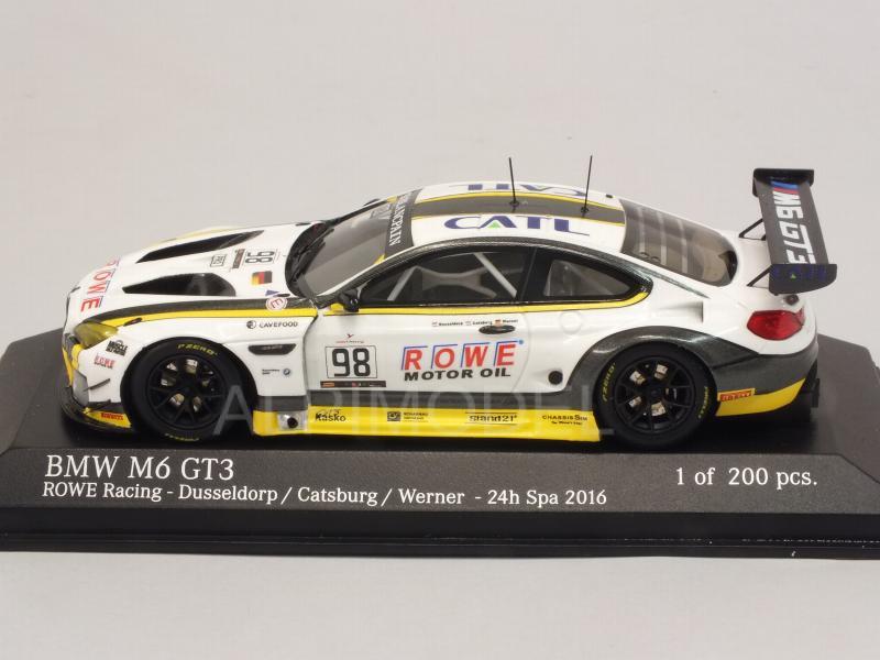 Minichamps 437162698 Bmw M6 Gt3 Rowe Racing 98 24h Spa