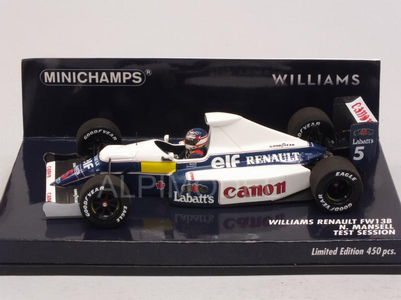 Williams FW13B Renault F1 Test Session 1991 Nigel Mansell  (HQ Resin) - minichamps