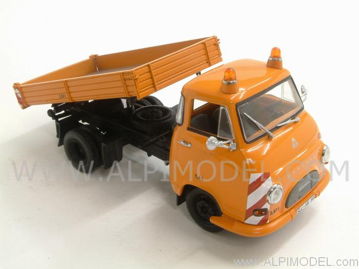 Hanomag Kurier Kipper 1958 Orange - minichamps