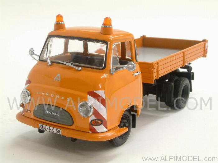 Hanomag Kurier Kipper 1958 Orange by minichamps