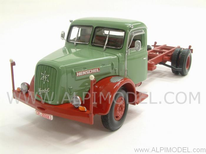 Henschel HS 140 Chassis 1954 (Green&Red) by minichamps