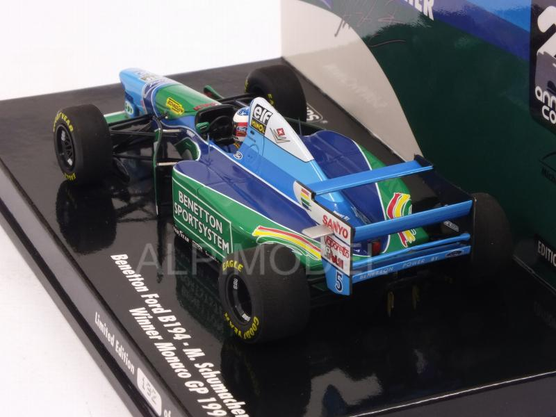 Benetton B194 Ford #5 Winner GP Monaco 1994 Michael Schumacher (HQ Resin) - minichamps